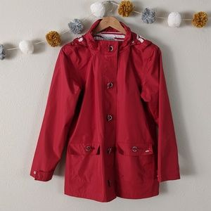 Red Armor Lux Raincoat with Striped Lining